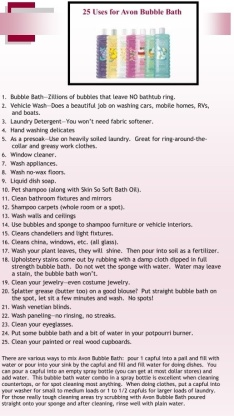 Bubble Bath Uses
